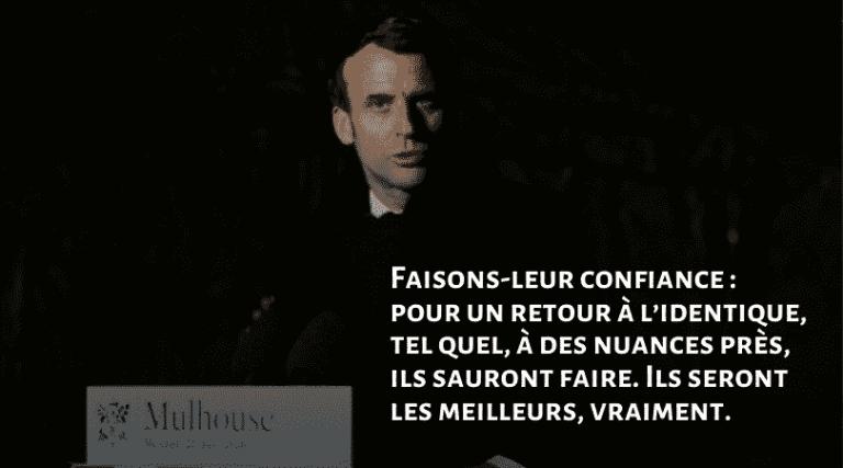 Que fera-t-on de cette crise ? Emmanuel Macron à Mulhouse