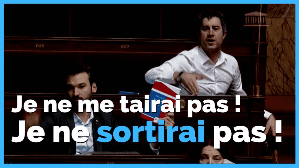 François Ruffin lors du discours d'Edouard Philippe pour le 49-3